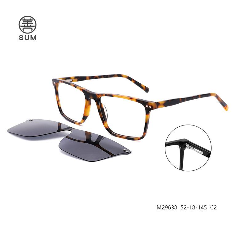 Clip On Eyeglasses For Men M29638 C2