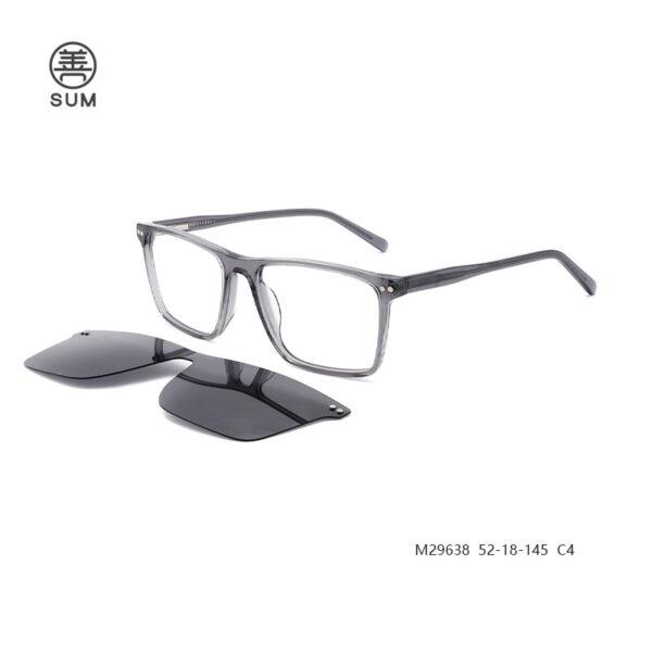 Clip On Eyeglasses For Men M29638 C4