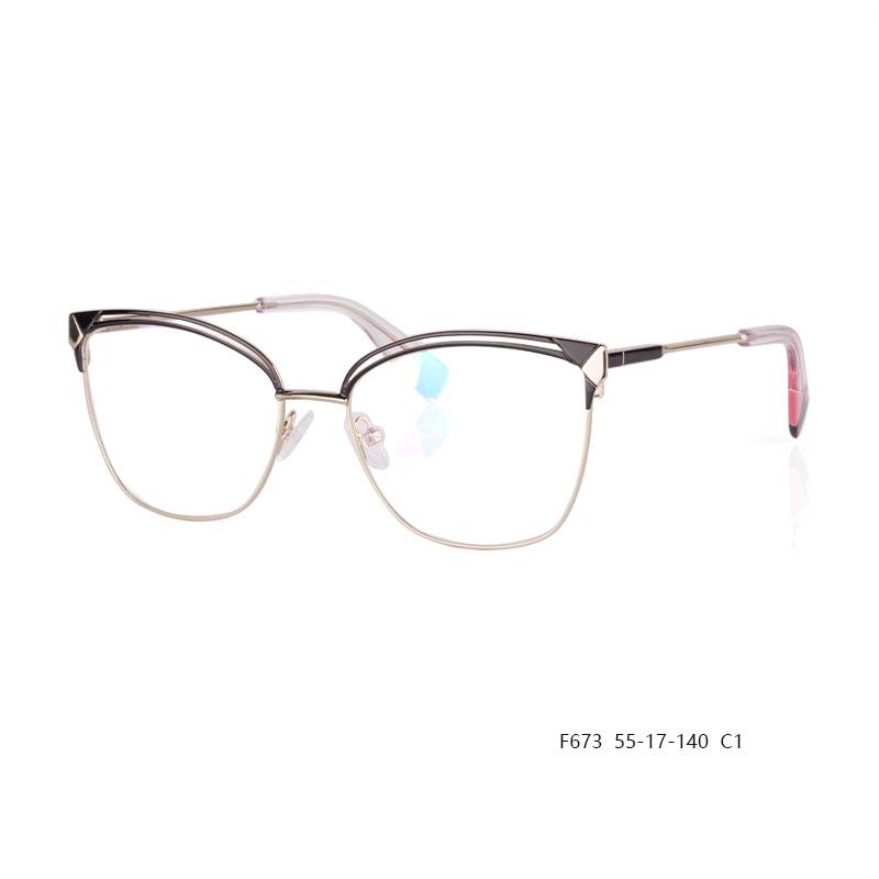 New Design Metal Eyeglasses F673 C1