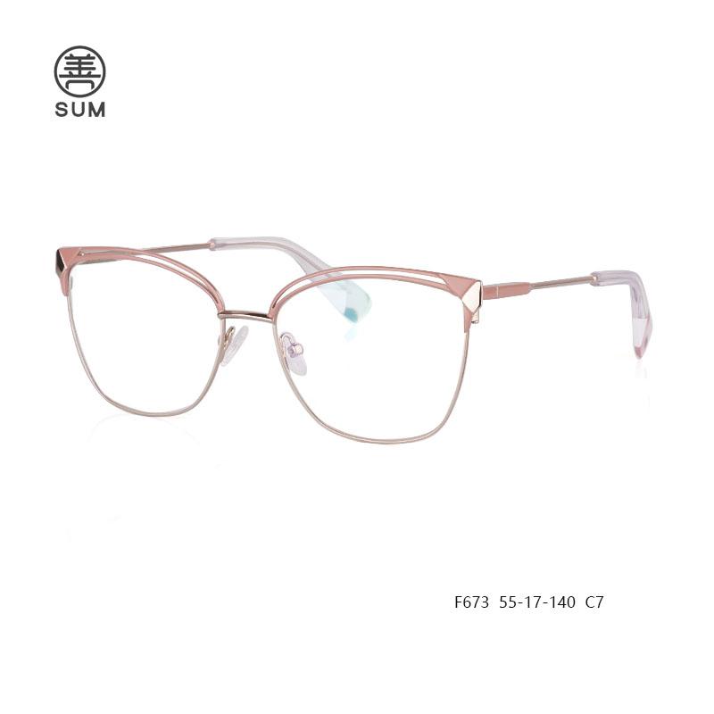 New Design Metal Eyeglasses F673 C7