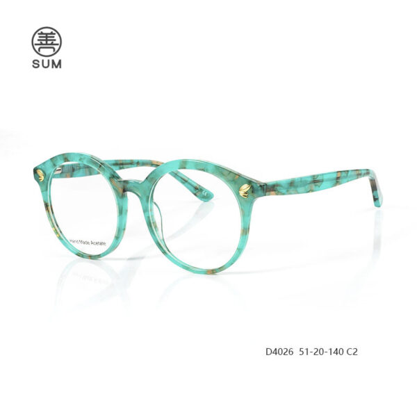 Fashion Aceate Optical Frames For Euro Market D4026 C2