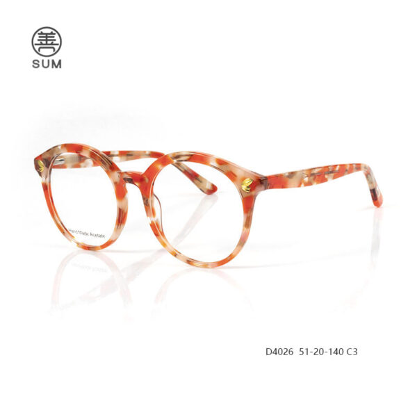 Fashion Aceate Optical Frames For Euro Market D4026 C3