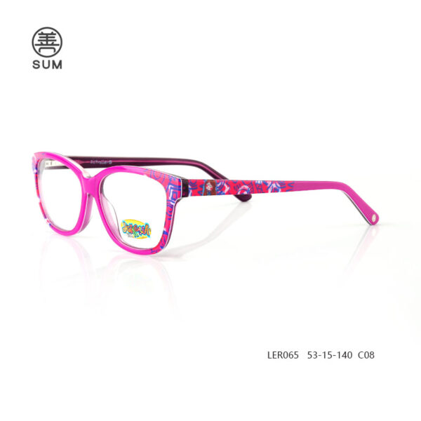 Kids Acetate Optical Frames Ler065 C8