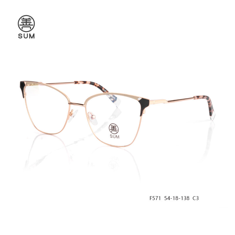 Metal Eyeglasses For Women F571 C3