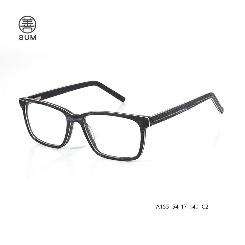 Wood Acetate Eyeglasses A155 C2