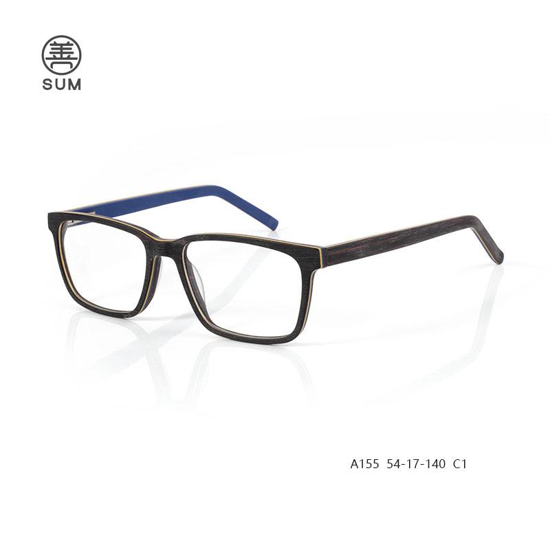 Wood Acetate Eyeglassesa155 C1