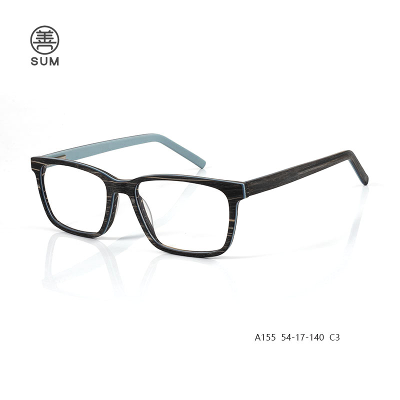 Wood Acetate Eyeglassesa155 C3